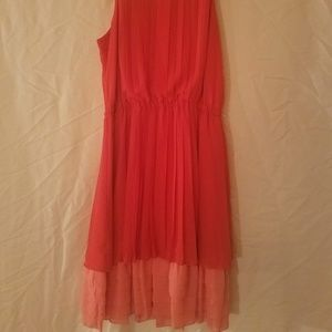 Jessica Simpson Coral and Salmon Derby Dress